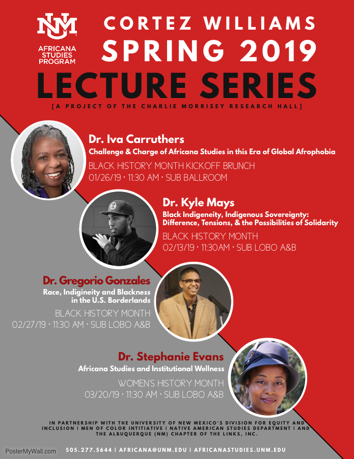 Cortez Williams Lecture Series 2019 Poster